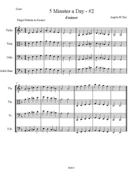 Warm Ups for Orchestra - d minor