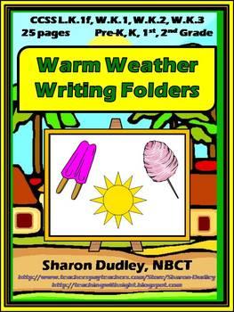 Warm Weather Writing Folders