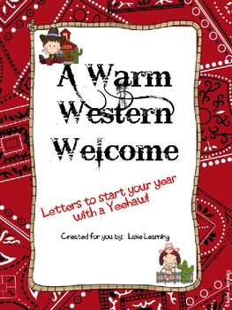 Warm Western Welcome Letter Kit
