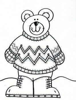 Warm Winter Stylin' Sweater Bear