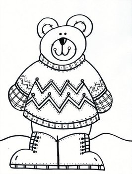 Warm Winter Stylin' Sweater Bear