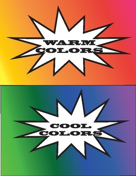 Warm and Cool Colors Classroom Poster