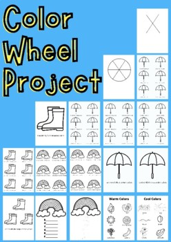 Color Wheel Template for Primary or Elementary Age