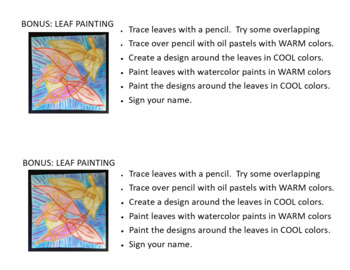 Warm and Cool Leaves: A Challenge Project for Early Finishers