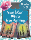 Warm and Cool Winter Tree Painting