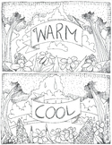 Warm and cool color sheet