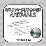 Warm-blooded animals mini book