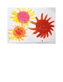 Warm color mixing- Painting lesson for grades K-1