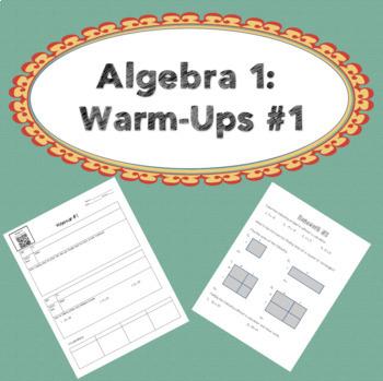 Algebra 1: Warm-up #1 & Homework