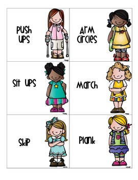 Warm-up Activity Cards