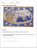 European Age of Exploration - Ptolemy's Map Analysis- Great Beginning Activity