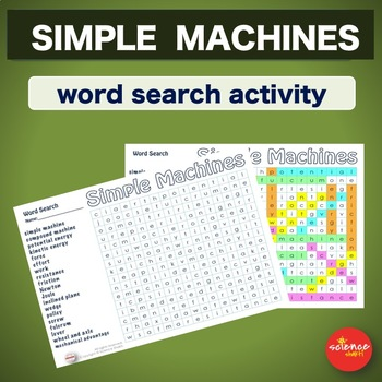 Warm up * Bell ringer *Simple Machines Activities Middle School * Wordsearch