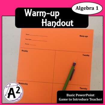 Bell Work or Warm-up Handout