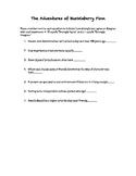 Warm up Questionnaire: The Adventures of Huckleberry Finn