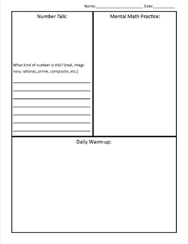 Warm-up Template