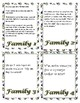 Warm-up Writing Family Prompt Cards