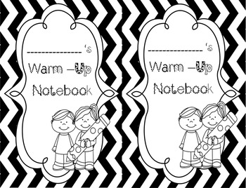 Warm up notebook cover