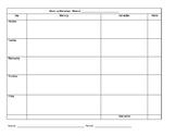 Warm up worksheet - customizable
