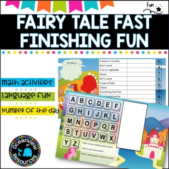 Boggle, Scattergories, what's your word worth? Number of the day- fairy tales