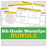 WarmUps Bundle: 8th Grade Math (Common Core Standards)