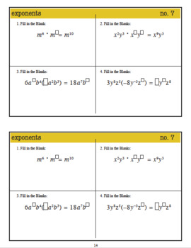 WarmUps: Exponents & Scientific Notation: 8th Grade Math (Common Core Standards)