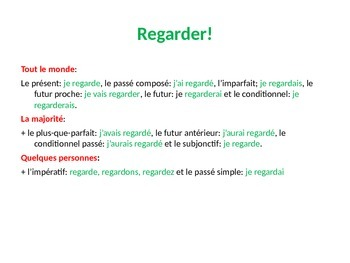 French Teaching Resources. Starter Activity to revise a huge range of tenses!