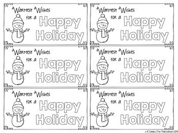 Warmest Wishes Holiday Gift Labels