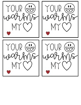 Warms My Heart Valentine's Day Notes