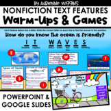 Warms-Up & Games - Nonfiction Text Features - Distance Learning