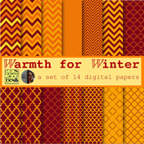 Warmth for Winter Digital Paper Commercial Use OK