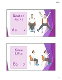 Warmup exercise cards - wheelchair