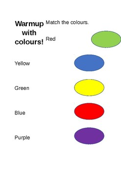 Warmups: Matching Colours!