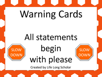 Warning Cards