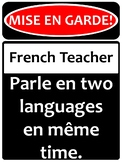 Warning! French teacher!