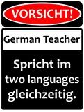 Warning! German teacher!