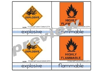 Warning Labels 3-Part Cards