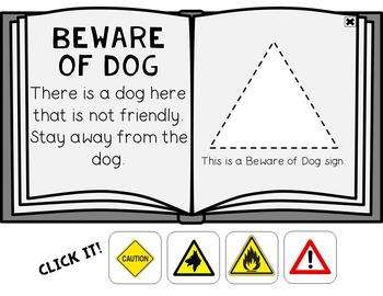 Warning & Safety Signs Click It Book {No Print}