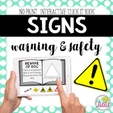 Warning & Safety Signs Click It Book {No Print}