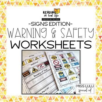 Warning & Safety Signs Worksheets