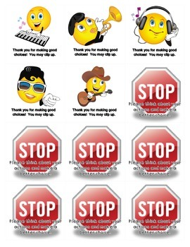 Warning and Clip Up/Down Behavior Cards