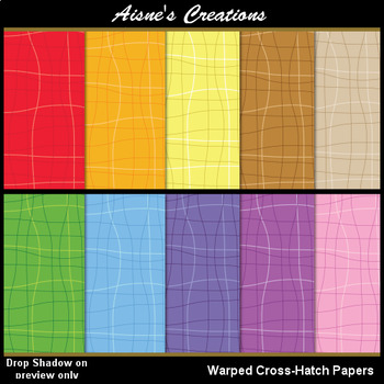 Warped Crosshatch Papers