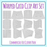 Warped Grid Clip Art for Patterns, Coloring, 100 boards, Word Searches Etc