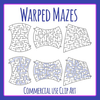Warped Mazes Clip Art Set for Commercial Use