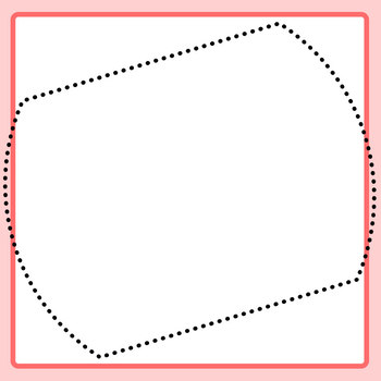 Warped Tracing Square Shapes / Outlines / Borders / Blank Templates Clip Art Set