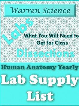 Warren Anatomy Yearly Supply List