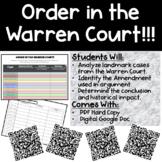 Warren Court Cases Internet Scavenger Hunt