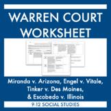 Warren Court: Learn the Miranda, Escobedo, Engel, & Tinker Supreme Court Cases!
