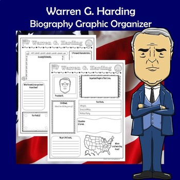Warren G. Harding President Biography Research Graphic Organizer