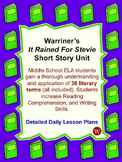 "Short Story ""It Rained for Stevie"" Unit"