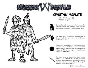 Warrior Class - Spartan Hoplite Resources - Differentiated Leveled Reading & Fun
